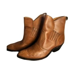Double h brand womens leather cowgirl boots size 8